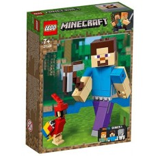 LEGO Minecraft - Steve BigFig cu papagal (21148)