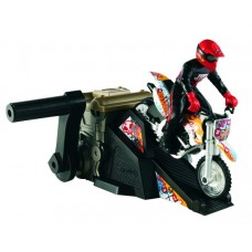 Team hot wheels Moto Rev Launcher - Motocicleta cu rampa de lansare - cod W3069