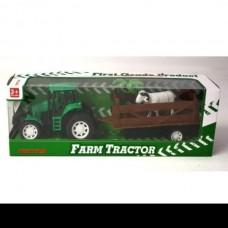 Tractor de ferma cu remorca